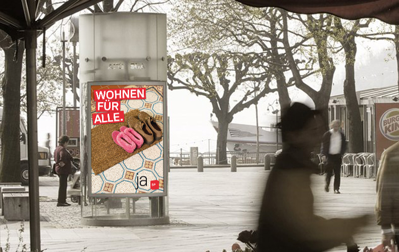 Arbeiten Rubriken Kampagne SP Kanton Zürich Wohnen für alle